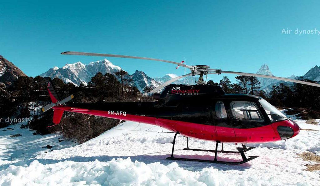 Helicopter-Langtang–Flight