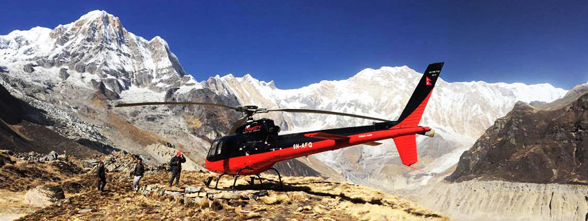 annapurna base camp helicopter tour in nepal